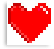 8 bit Heart Canvas Print