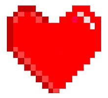 8 bit Heart Photographic Print