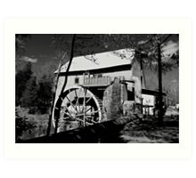 Old Mill of Guilford in B&W Art Print