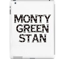 Monty Green Stan iPad Case/Skin