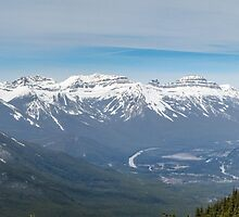Bow Valley from Suphur Mountain by DPalmer