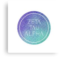 Zeta Tau Alpha Canvas Print