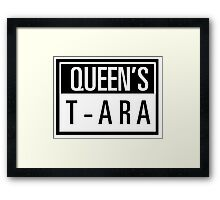 Queens T-ARA Framed Print