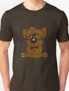 nerd geek smart hornbrille clever fly cool young comic cartoon teddy bear T-Shirt