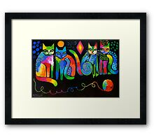 Abstract Cats ( HBAS demo ) Framed Print
