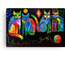 Abstract Cats ( HBAS demo ) Canvas Print