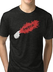 American Fire Eagle! Tri-blend T-Shirt