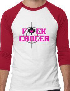 F*CK CANCER (sharp shooter) Men's Baseball ¾ T-Shirt