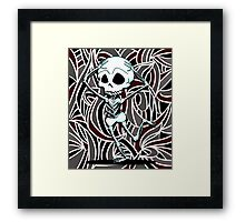 Graffiti Skeleton Framed Print