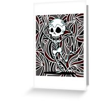 Graffiti Skeleton Greeting Card