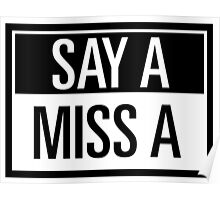 say A - miss A Poster
