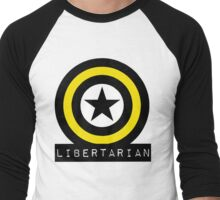 Libertarian Freedom Liberty American Constitution Men's Baseball ¾ T-Shirt