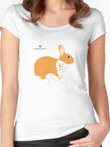 Blanket Brocken Rabbit, Orange Women's Fitted Scoop T-Shirt