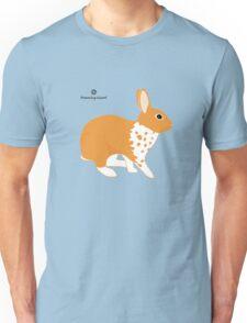 Blanket Brocken Rabbit, Orange Unisex T-Shirt