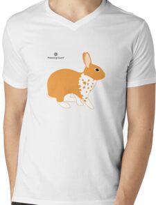 Blanket Brocken Rabbit, Orange Mens V-Neck T-Shirt