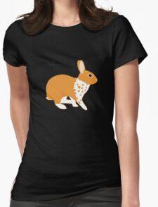 Blanket Brocken Rabbit, Orange Womens T-Shirt