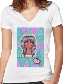 Luh U Women's Fitted V-Neck T-Shirt