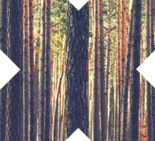 forest nature X shape graphic Sticker