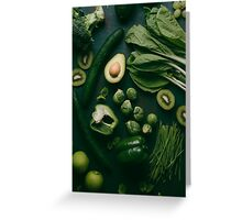 Green food Greeting Card