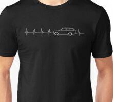 Gem Wagon Heartbeat (white) Unisex T-Shirt