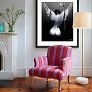 room with 'only some dare ' print by Loui  Jover