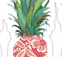 Pineapples rainbow Sticker