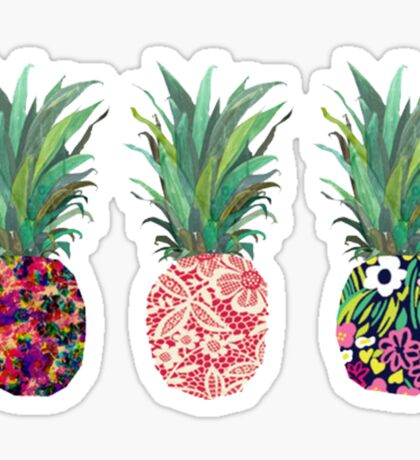 Pineapples rainbow Sticker