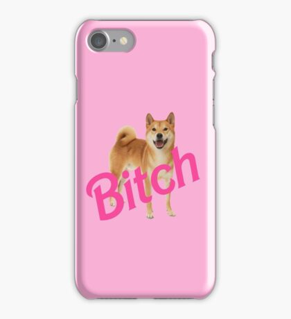 Bitch Shibe iPhone Case/Skin