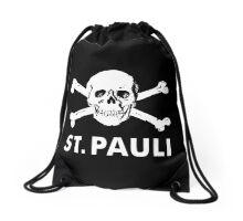 st pauli skull Drawstring Bag