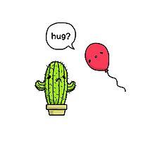 Cactus & Balloon Hug Photographic Print
