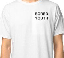 BORED YOUTH Plain White Script Tee Classic T-Shirt