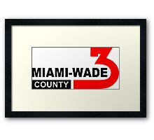 Miami Wade County  Framed Print