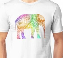 Rainbow Tribal Elephant Unisex T-Shirt