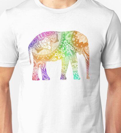 Rainbow Tribal Elephant Unisex T-Shirt