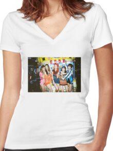 exid street poster Women's Fitted V-Neck T-Shirt