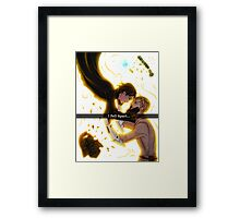 .: I fell apart:. Framed Print