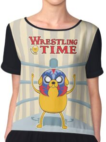 Wrestling Time Chiffon Top