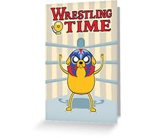 Wrestling Time Greeting Card