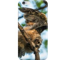 The Big Stretch_Great Horned Owlet iPhone Case/Skin