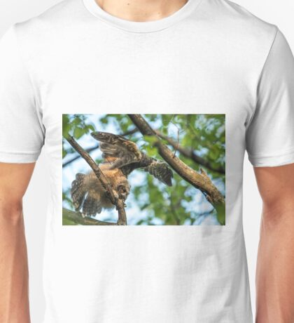 The Big Stretch_Great Horned Owlet T-Shirt