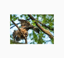 The Big Stretch_Great Horned Owlet Unisex T-Shirt