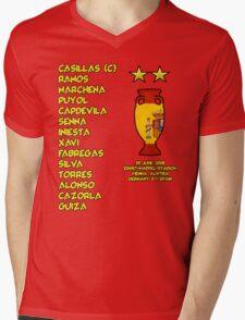 Spain 2008 Euro Winners Mens V-Neck T-Shirt