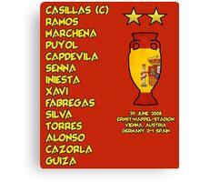 Spain 2008 Euro Winners Canvas Print