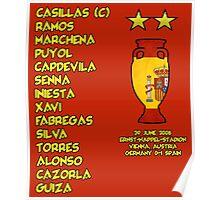 Spain 2008 Euro Winners Poster