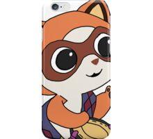 Baby Raccoon Drummer iPhone Case/Skin