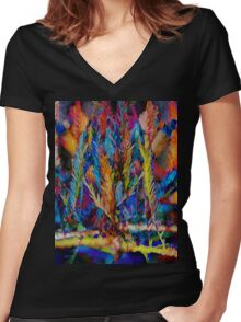 Color-fully Yours Women's Fitted V-Neck T-Shirt