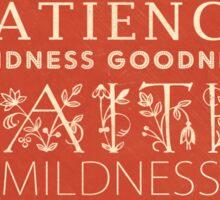 Fruit of the Spirit (Galatians 5:22) Sticker