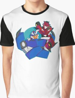 Animated Style Knock Out and Breakdown Graphic T-Shirt