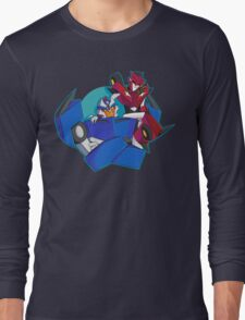 Animated Style Knock Out and Breakdown Long Sleeve T-Shirt