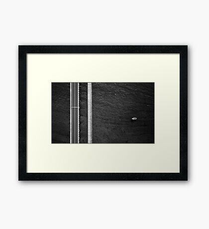 Barwon Heads Bridge - Abstract Aerial Framed Print